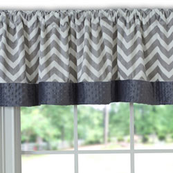 Minky Chevron Window Valance