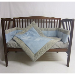 Suede Susie Porta Crib Bedding Set