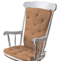 Minky Dot Rocking Chair Cushion