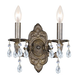 Majestic Crystal Two Light Sconce
