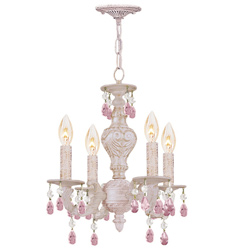 Majestic Wood Polished Crystal Convertible Chandelier