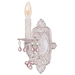 Single Arm Murano Crystal Wall Sconce