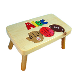 Sports 1 Name Puzzle Stool