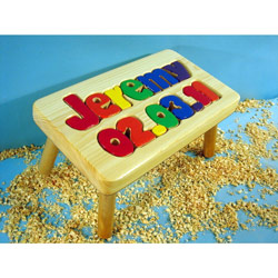 Birthday 1 Name Puzzle Stool