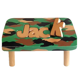 Peachy Personalized Camo 1 Name Puzzle Stool Ocoug Best Dining Table And Chair Ideas Images Ocougorg