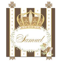 Posh Prince Crown Plaque