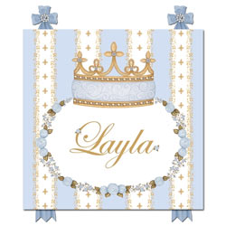 Posh Princess Crown Name Plaque
