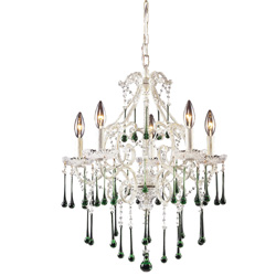 Opulence Five Arm Crystal Chandelier