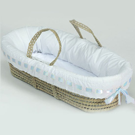 Eyelet Ribbon Moses Basket