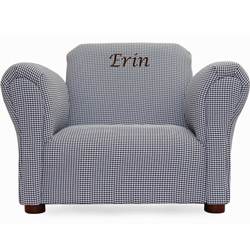 Personalized Gingham Kids Chair