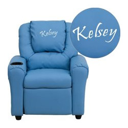 Personalized Kids Contemporary Recliner