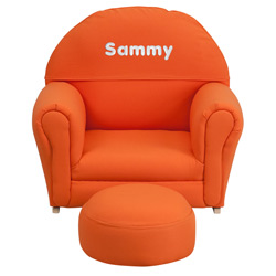 Kids Personalized Fabric Upholstered Rocker
