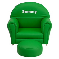 Kids Personalized Vinyl Upholstered Rocker