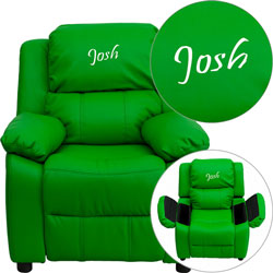 Personalized Kids Recliner with Storage Arms