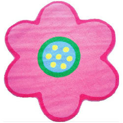 Flower shaped rug novelty rugs ababy pink flower shaped rug mightylinksfo
