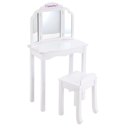 Personalized Expressions Vanity and Stool