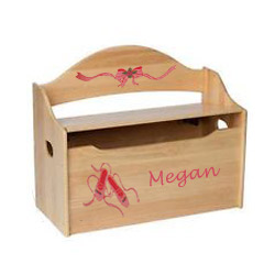 Personalized Handpainted Ballet Toy Box