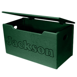 Name Engraved Wooden Toy Box