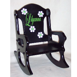 PERSONALIZED. Pretty Flowers Rocking Chair ...