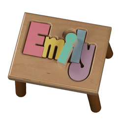Personalized Puzzle Stool