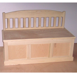 Personalized Hand Crafted Toy Box Bench Personalized Kids Toy