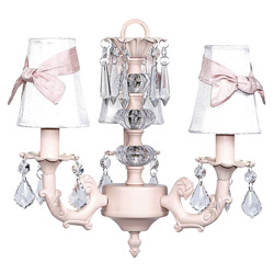 3-Arm Bow Shade Chandelier