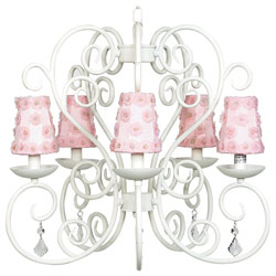 Flower Petal Carriage Chandelier