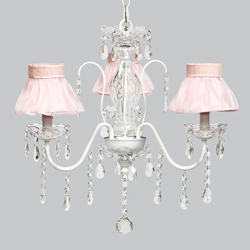 Ballerina Tutu 3 Arm Jewel Chandelier