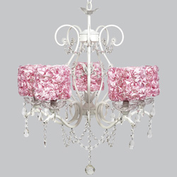 Rose Garden 5 Arm Grace Chandelier