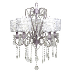 Rose Garden Whimsical 5 Arm Chandelier