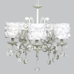 Rose Garden Elegance 5 Arm Chandelier