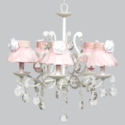 Ruffled Skirt 5 Arm Elegance Chandelier
