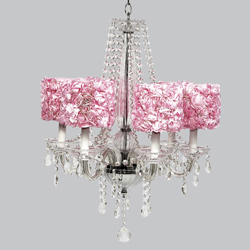 Rose Garden 6 Arm Middleton Chandelier
