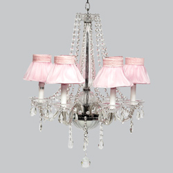 Ruffled Skirt 6 Arm Middleton Chandelier