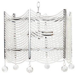 3 Light Crystal Swag Chandelier