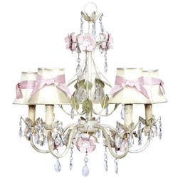 Ivory Flower Garden 5 Arm Chandelier