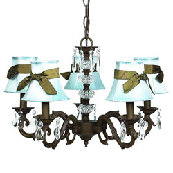 Mocha Sash 5 Arm Chandelier