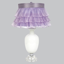 Ruffled Tutu Traditional White Lamp