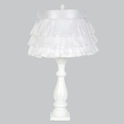 Ruffled Skirt Shabby Chic Lamp