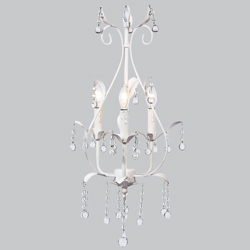 3 Arm Pear Chandelier