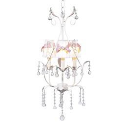 Bow Sash 3 Arm Pear Chandelier