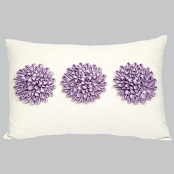 3 Dahlias Throw Pillow