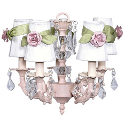 Rose Sash 5-Arm Chandelier