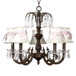 Waterfall  Bow Shade Chandelier