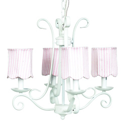 4 Arm Harp Scallop Chandelier