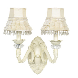 Two Arm Turret Wall Sconce