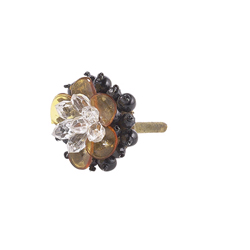Multi-Colored Beaded Floral Knob