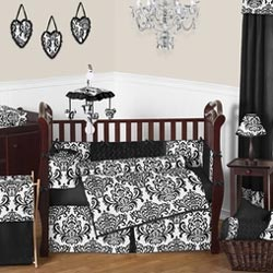 Isabella Damask Crib Bedding Set