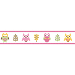 Night Owl Wallpaper Border