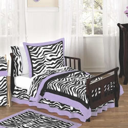 Zebra Toddler Bedding Set